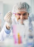 Research and  science people  in labaratory Stock Photo