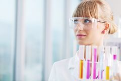 Research and  science people  in labaratory Royalty Free Stock Photo