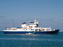 Research Ship. At anchor in Christiansted Harbor, St. Croix, US Virgin Islands Royalty Free Stock Image