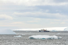 Research ship in Antarctica Stock Photography