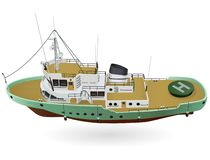 Free Research Ship, Marine Research Boat For Scientists Stock Photography - 130450172