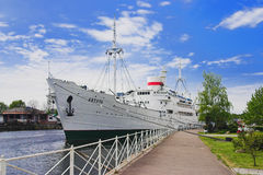 Research ship Vityaz in Kaliningrad Stock Image