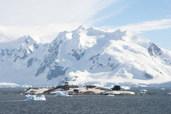 Research station in Antarctic Stock Photography