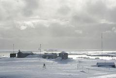 Research Station in Antarctica. Royalty Free Stock Photography
