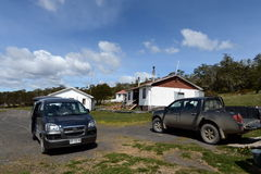 Research station in the national park Karukinka in Tierra del Fuego. Royalty Free Stock Photo