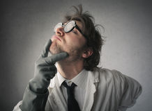 Research thinking Stock Images