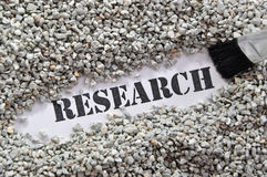 Research -- Treasure Word Series Royalty Free Stock Photos