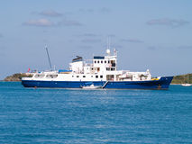Research Vessel. Research ship at anchor in Christiansted Harbor, St. Croix, US Virgin Islands Stock Images