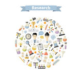 Research Web Icons in circle Royalty Free Stock Images