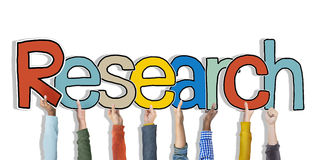 Research Word Concepts Isolated on Background Royalty Free Stock Photos