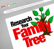 Research Your Family Tree Online Website Research Database. An online database for researching your family tree and heritage on a website library of historical vector illustration
