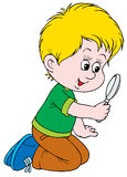 Researcher. Vector clip-art / children's book illustration for your design and scrapbook Stock Images