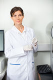 Researcher With Blood Sample For Coagulation Stock Photography