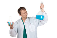Researcher carrying out scientific research Royalty Free Stock Image