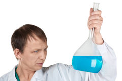 Researcher carrying out scientific research Stock Images