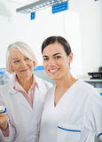Researcher With Colleague In Hospital Royalty Free Stock Photo