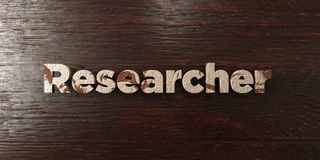 Researcher - grungy wooden headline on Maple  - 3D rendered royalty free stock image. This image can be used for an online website banner ad or a print Stock Photos