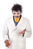 Researcher juggling with an orange Royalty Free Stock Image
