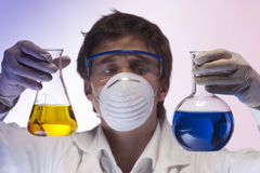 Researcher in the laboratory Royalty Free Stock Photography