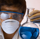 Researcher in the laboratory Royalty Free Stock Images