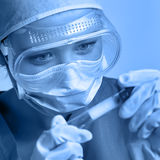 Researcher in the laboratory Stock Image