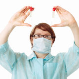 Researcher in the laboratory Stock Images