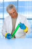 Researcher in modern laboratory Royalty Free Stock Images