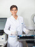 Researcher With Samples For Coagulation Analysis Stock Image