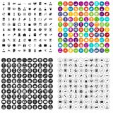 100 researcher science icons set vector variant. 100 researcher science icons set vector in 4 variant for any web design isolated on white Royalty Free Stock Photo