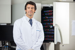 Researcher Standing By Blood Culture Instrument Stock Photos