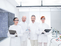 Researcher team in laboratory Stock Images
