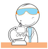 Researcher. Vector Illustration Design .eps 10 Royalty Free Stock Photo