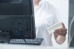 Researcher during work Stock Image
