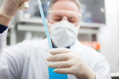 Researcher at work in a laboratory Royalty Free Stock Images