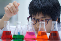 Researcher working with chemical Stock Images