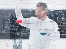 Researcheranalyzing substances Stock Images