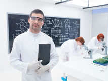 Researchers in a chemistry lab Royalty Free Stock Photo