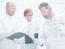 Researchers lab data analysis Stock Image