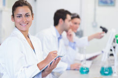 Researchers working on experiments in the laboratory Stock Image