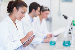Researchers working on experiments in the laboratory Stock Photography