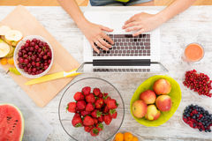 Researching Fruits Stock Photography
