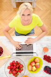 Researching Fruits Stock Photo