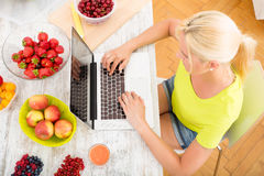 Researching Fruits Royalty Free Stock Photos