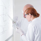 Researching  laboratory samples Royalty Free Stock Photography