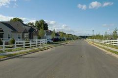 Resedential Nachbarschaft Lizenzfreies Stockfoto