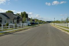 resedential sąsiedztwa. Zdjęcie Royalty Free