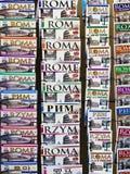 resehandbokitaly rome turist Fotografering för Bildbyråer