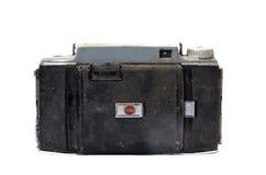 RESEN,马其顿1月5,2014 :柯达旅游照相机是从伊士曼柯达公司的美国制造的折叠的卷筒软片照相机 游人 图库摄影