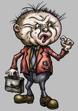 Resentful cartoon man Stock Images
