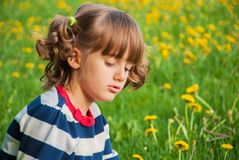 Resentful child Royalty Free Stock Photography